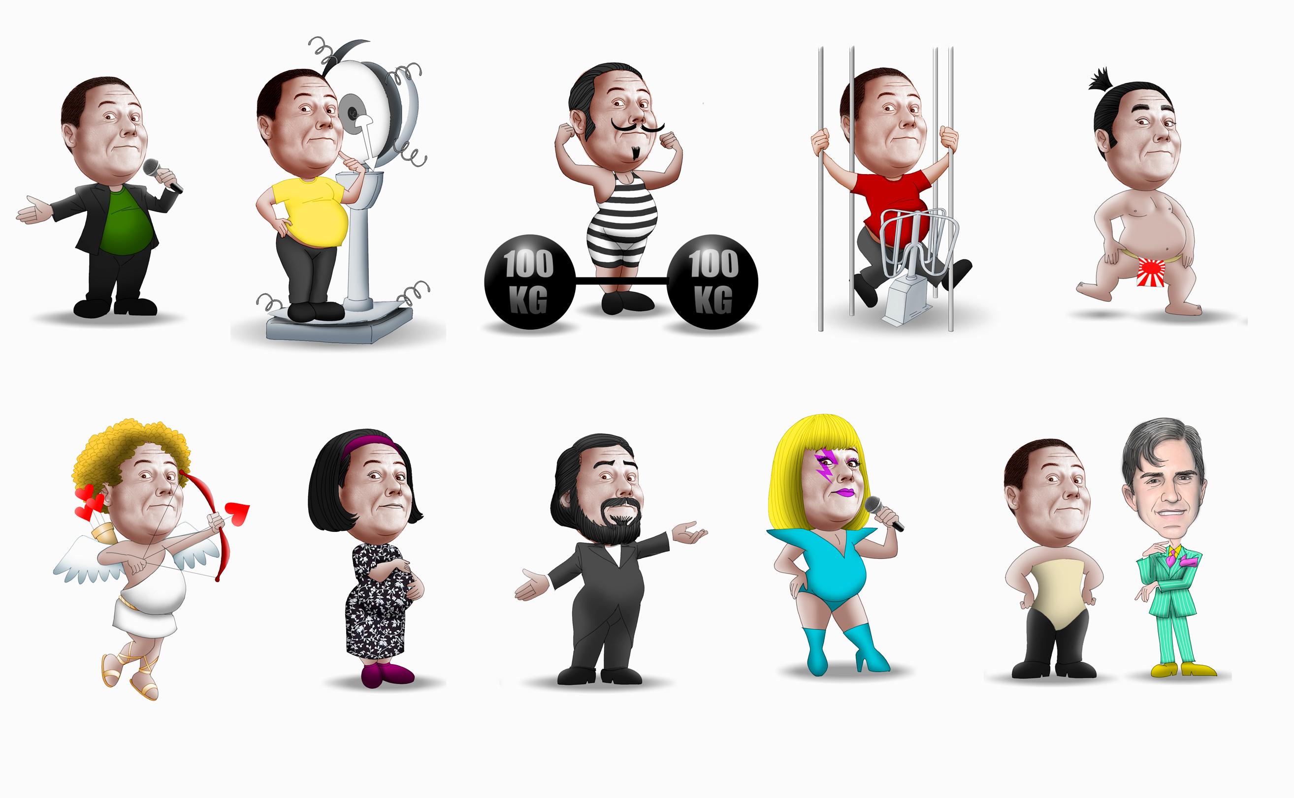 Caricaturas – Paulo Fernando Mello – Amostras | Marcelographics ...