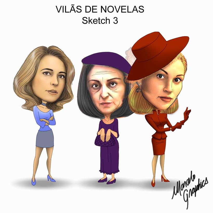 Garota da Laje Caricaturas-vilc3a3s-2e