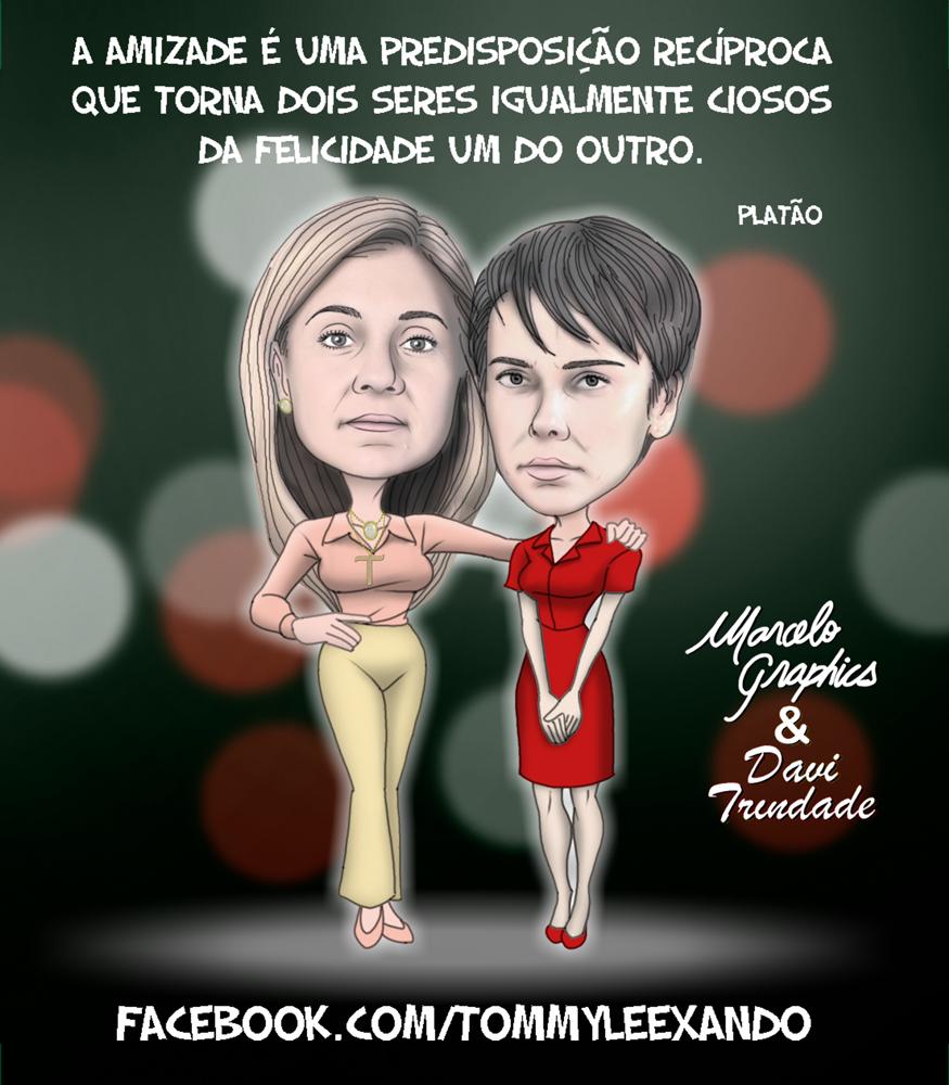 Caricaturas – AVENIDA BRASIL – Nina & Carminha no DIA DO AMIGO ...