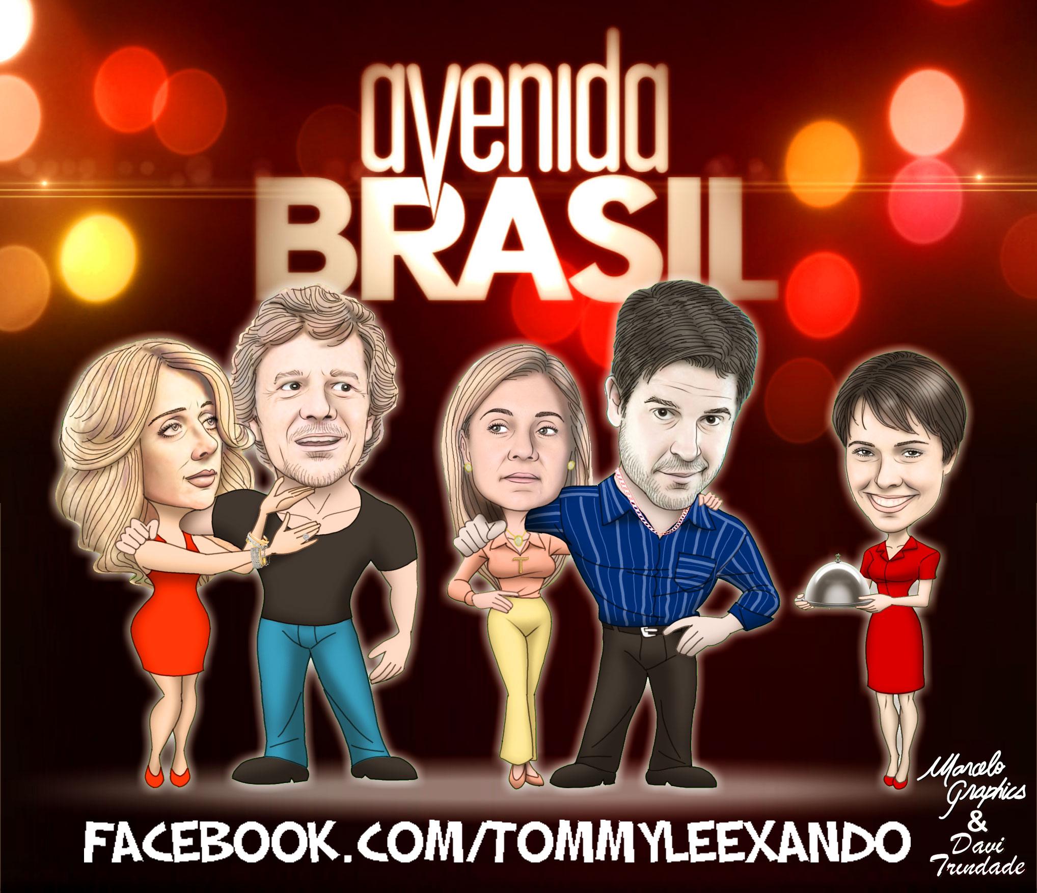 Caricaturas de Avenida Brasil